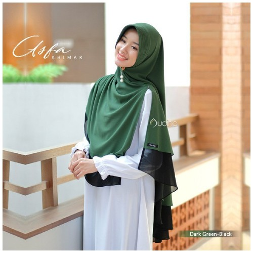 Audina Asfa Khimar - Dark Green