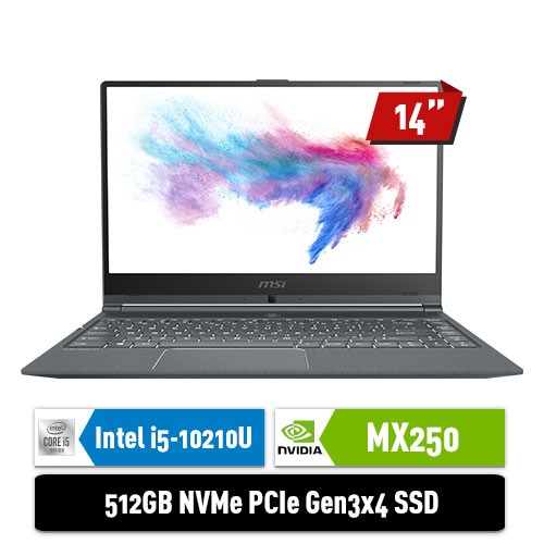 MSI Notebook Modern 14 A10RB-672ID with GeForce MX250