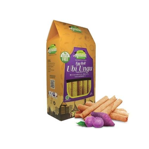 Pawon Narasa - Snack Gluten Free Egg Roll UBI UNGU [Dus]