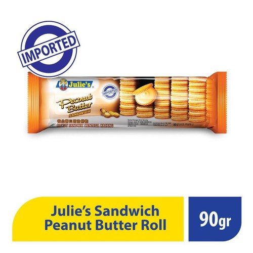 Julies Peanut Butter Roll Sandwich -90 Gr ( 1 Pcs )