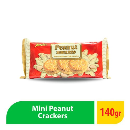 Interbis Mini Peanut Cracker - 140 Gr ( 1 Pcs )