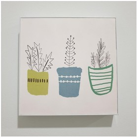 Lukisan Minimalis Plants