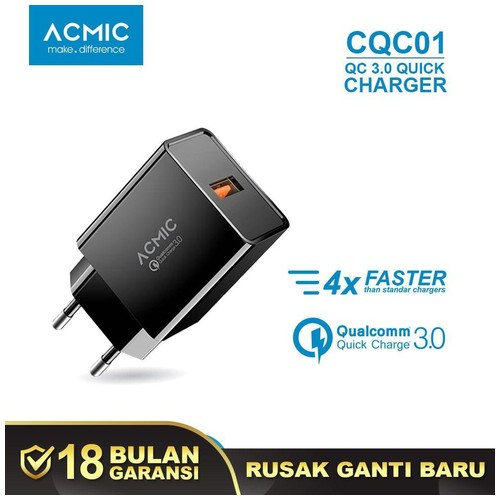ACMIC CQC01 - Quick Charge 3.0 USB Wall Charger Fast Charging