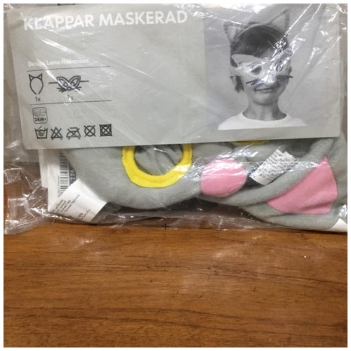 Ikea Topeng Kain - abu abu - Klappar Maskerad 101.226.71 (18937)