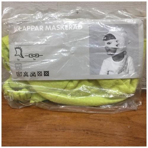 Ikea Topeng Kain - hijau - Klappar Maskerad - 901.225.72 (18937)
