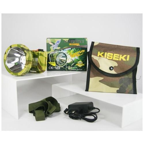Senter Kepala Headlamp Kiseki CK-188 35 Watt Putih Charger