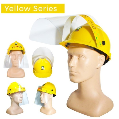 Face Shield Mask Topi Helm - YELLOW series