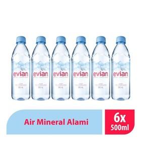 Evian Pet - 500 ML ( 6 Pcs
