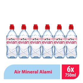 Evian Pet -750 ML ( 6 Pcs )