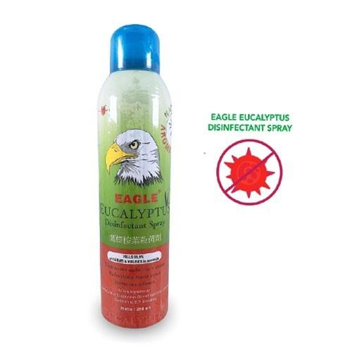 Air Disenfektan Eagle Eucalyptus Spray 280ml Pembunuh Kuman Dan Bakteri