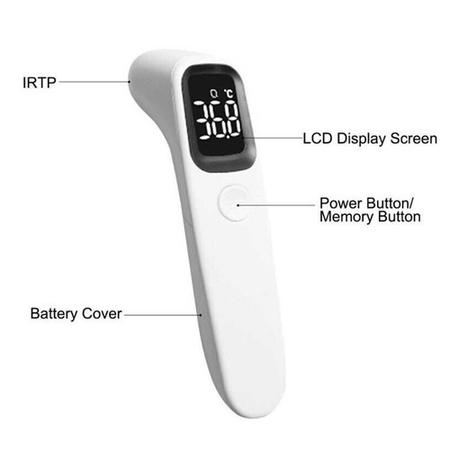 Thermometer Suhu Tubuh Digital Infrared Non Contact LED