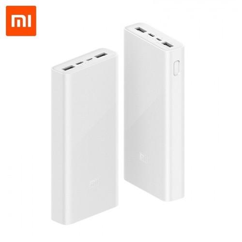 XIAOMI Mi Power Bank 3 20000mAh - Triple USB Output 18W MAX - PLM18ZM - White