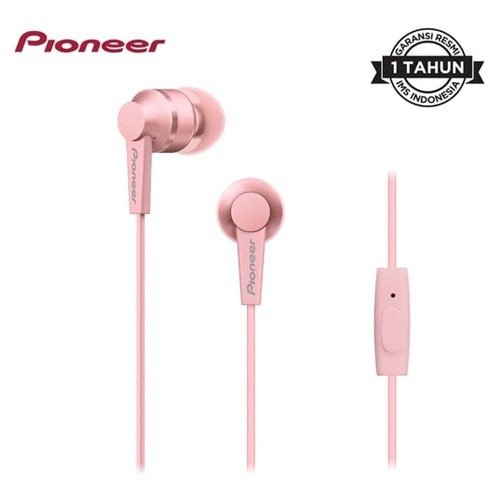 Pioneer Earphone in Ear SE-C3T(P) - Pink