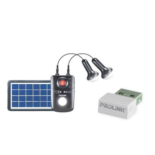 Prolink Solar Panel + LED PPS80M - Black bundling Wireless Networking WN2001