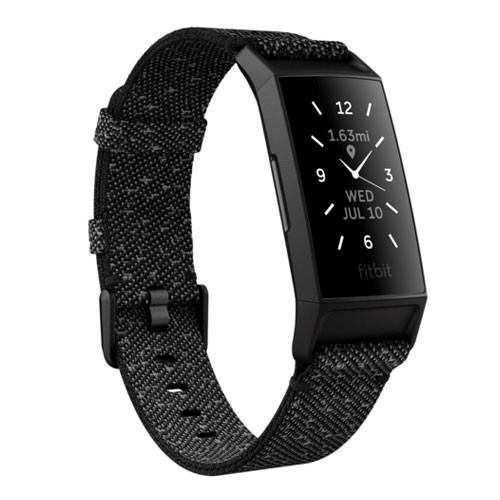 Fitbit Charge 4 Special Edition Granite Reflective - Woven/Black