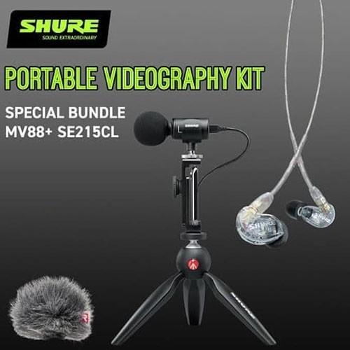 Shure MV88+ Bundle Shure SE215CL