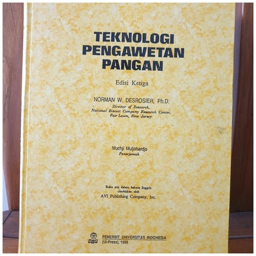 Buku Teknologi Pengawetan Pangan - Norman W. Desrosier