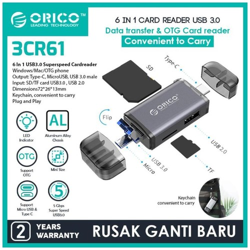 ORICO 6in1 OTG Card Reader USB3.0 - 3CR61