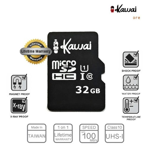 Ikawai MicroSDHC 32GB Class10 UHS-I Lifetime Warranty