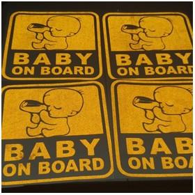 Sticker Stiker Baby on Boar