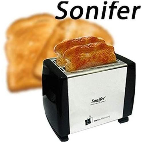 Toaster Sonifer Pemanggang Roti Otomatis Loncat Alat Panggang Roti  Pemanggang Pop Up