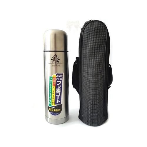 Termos Kapsul plus Sarung 1000 ml Vacuum Air Panas Botol Stainlees 1 Liter Botol Minum Anti Panas