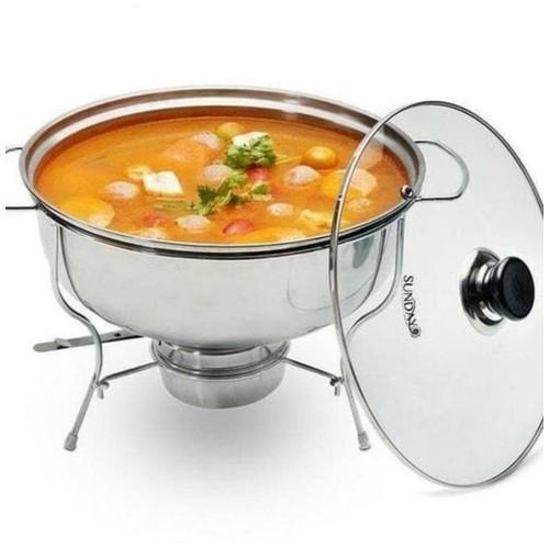 Food Warmer Tempat Sayur Sop Prasmanan Saji Stainless Pengangat Makanan