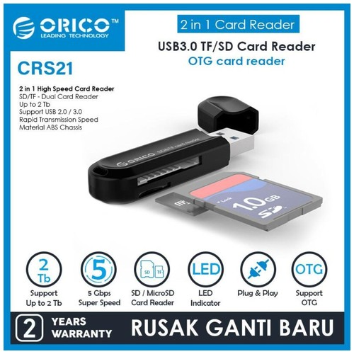 ORICO Card Reader USB3.0 TF / SD - CRS21