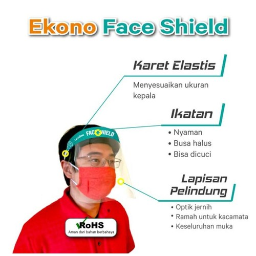 Face Shield KaryaOne Econo Series. Pelindung Wajah Kualitas Premium Harga Ekonomis