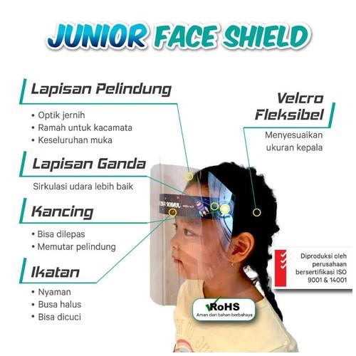 Face Shield KaryaOne Junior Series. Pelindung Wajah Kualitas Premium Aman untuk Anak - SPACE