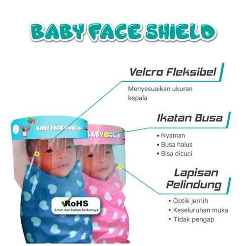Face Shield KaryaOne Baby Series. Pelindung Wajah Kualitas Premium Aman untuk Bayi - BLUE
