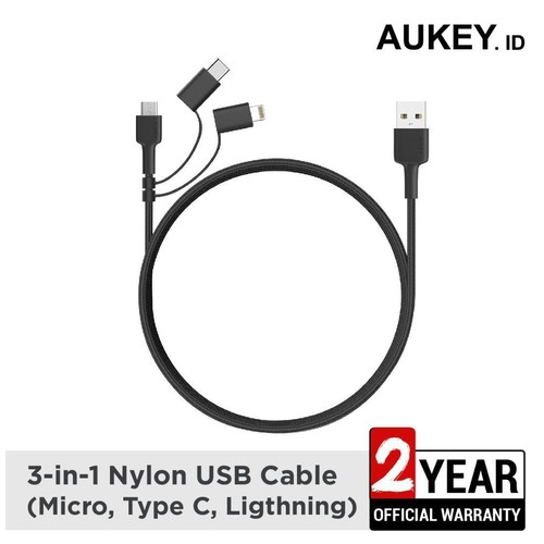 Aukey Cable CB-BAL5 3 in 1 Nylon USB - 500377