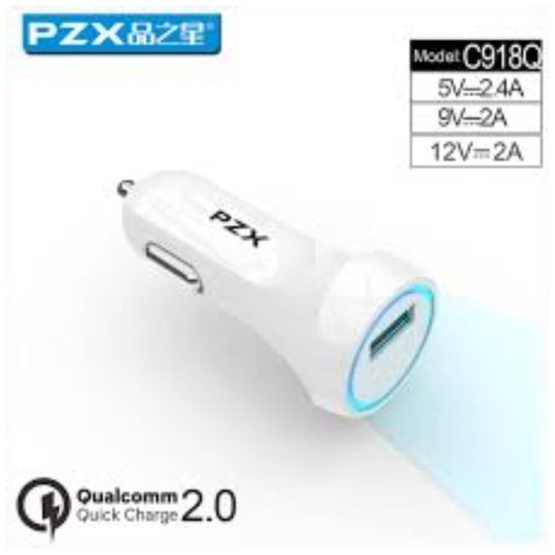 PZX C918Q Charger Mobil & Motor Qualcomm 2.0 2.4A Car Charger Fast Charging Support
