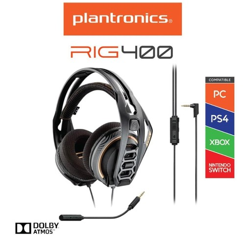 Plantronic RIG 400 Stereo Gaming Headset for PC - Black