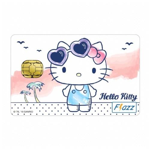 Kartu Flazz Limited Edition Hello Kitty Putih