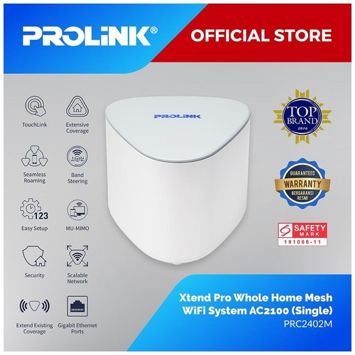 PROLiNK Xtend Pro PRC2402M Whole Home Mesh Wi-Fi System Router AC2100 Single