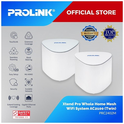 PROLiNK Xtend Pro PRC2402M Whole Home Mesh Wi-Fi System Router AC2100 Twin