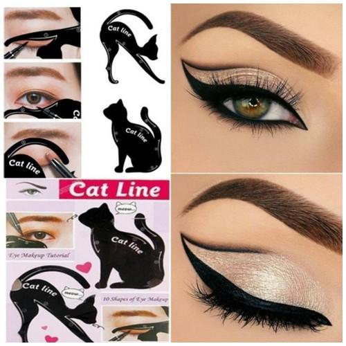 Cat Eyeliner Stencil Cetakan Cat Line 2 in 1 Eye Shadow & EyeLiner