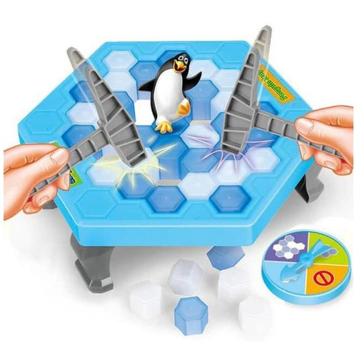 Mainan Anak Penguin Trap Ice Breaking Game Ketuk Palu Jatuhin Pinguin