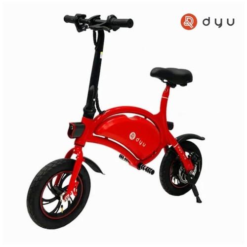 Sepeda Skuter Listrik DYU D1 Electric Scooter Bike- Merah