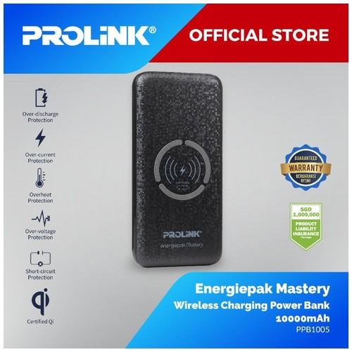 PROLiNK 10,000mAh Qi Wireless Quick Charge Power Bank PPB1005 - Black
