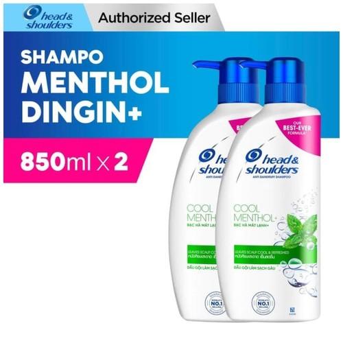 Head and Shoulder Shampoo Cool Menthol 850ml Paket isi 2