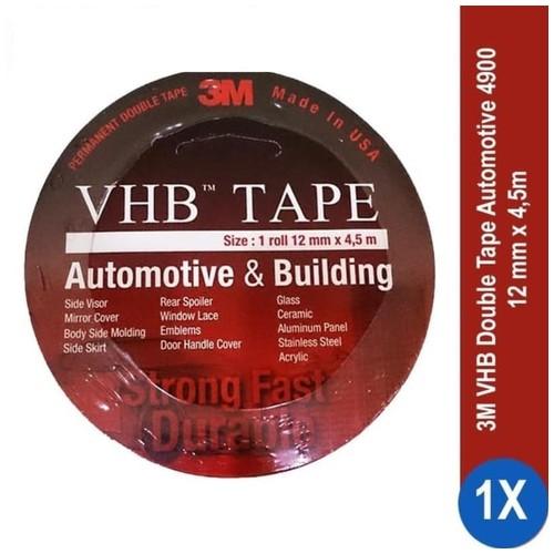 3M VHB Double Tape Automotive 4900 size 12mm x 4.5m - Double Tape Mobil