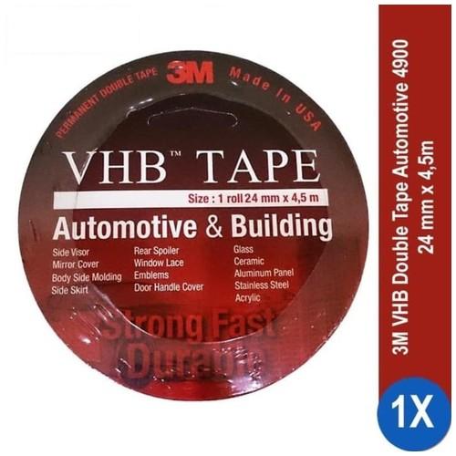 3M VHB Double Tape Automotive 4900 size 24mm x 4.5m - Double Tape Mobil