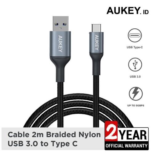 Aukey Cable CB-CD40 2M Braided Nylon USB 3.0 Type C - 500427