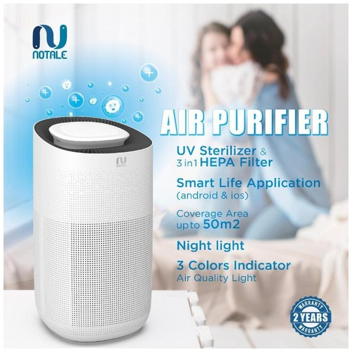 Notale Air Purifier with HEPA 13 UV Sterilizer Up 50m2