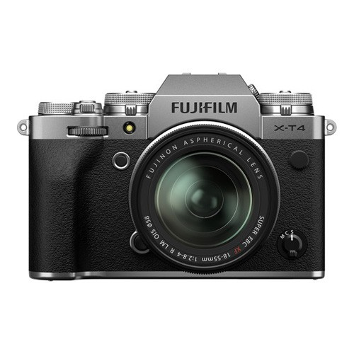 FUJIFILM X-T4 Mirrorless Digital Camera KIT with 18-55MM Lens - Silver