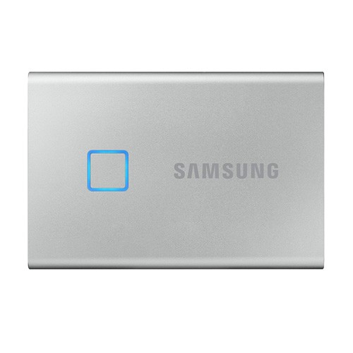 Samsung T7 Touch Portable SSD 500GB USB 3.2 - Silver (MU-PC500S/WW)