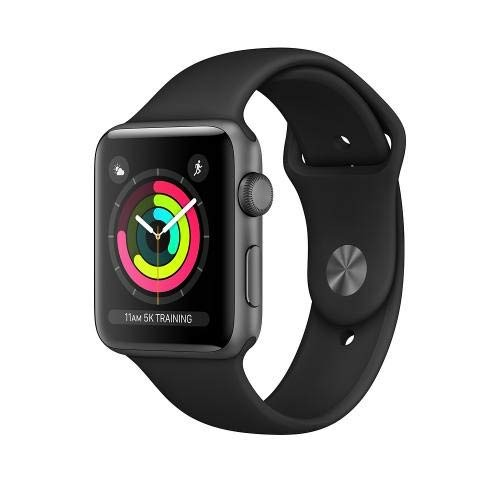 APPLE Watch Series 3 GPS 42mm Space Grey Aluminium Case with Black Sport Band [MTF32ID/A]