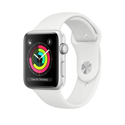 APPLE Watch Series 3 GPS 42mm Silver Aluminium Case with White Sport Band [MTF22ID/A]